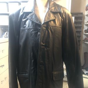Men's leather jacket.